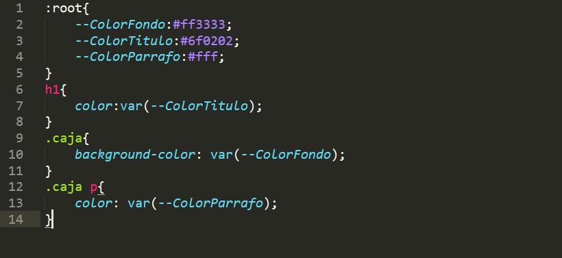 Variables en CSS